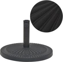 vidaXL Parasollfot i harts rund svart 14 kg