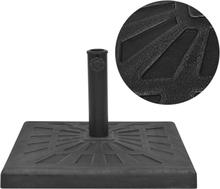 vidaXL Parasollfot harts kvadratisk svart 19 kg