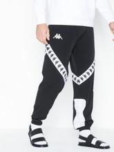KAPPA Trousers sport, Auth. Balmar Housut Musta/valkoinen