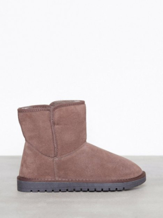 Duffy Leather Warm Boots Light Pink