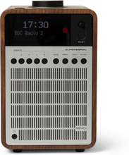 Supersignal Walnut And Aluminium Digital Radio - Silver