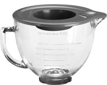 KitchenAid Skål i Glas 4,83 Liter med Silikonlock - 5KGB