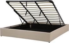 Sänky säilytystilalla 180x200 cm beige DINAN