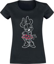 Mickey Mouse - Minnie Polka Dots -T-skjorte - svart