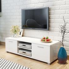 vidaXL TV-taso korkeakiilto valkoinen 120x40,3x34,7 cm