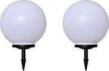 vidaXL Utomhuslampor 2 st LED 40 cm med markspett