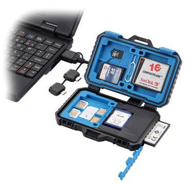 Puluz PU5004 Vandafvisende USB Kortlæser & Kort Etui - Sort