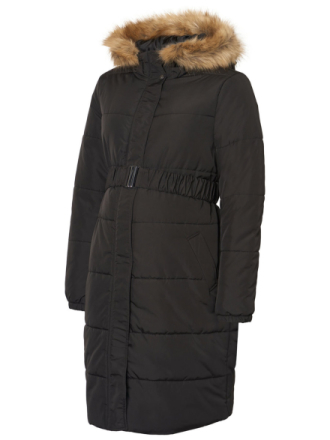 MAMA.LICIOUS Padded Maternity Coat Women Black