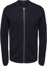 SELECTED Zip - Knitted Cardigan Men Blue