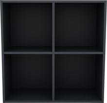 Flora væghængt mørkegrå reolsystem - 4 rum