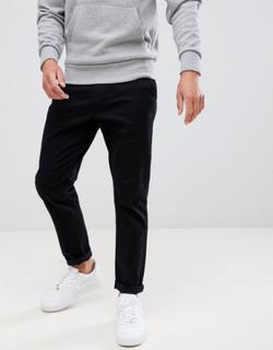 Burton Menswear tapered chino in black