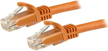 Cat6-patchkabel, hakfria RJ45-kontakter – 5 m, orange