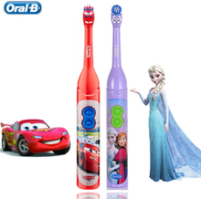 Kids Electric Toothbrush Oral B For Children's Oral Teeth Hygiene With 7200 Times Rotation Vibrator Disney Cartoon Images Oral-b
