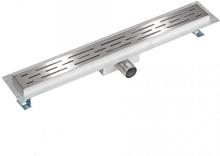 Afløbsrende rustfri stål 70 cm