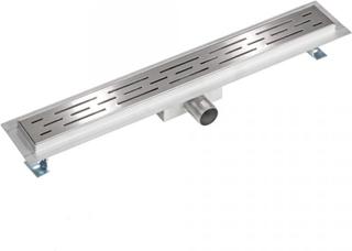 Afløbsrende rustfri stål 60 cm