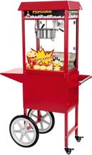 Popcornmaskine Professionel 1600W 8 OZ med vogn