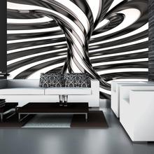 Fototapetti - Black and white swirl