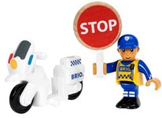 BRIO BRIO® My Home Town 33861 – Polismotorcykel med Förare 3 - 8 år