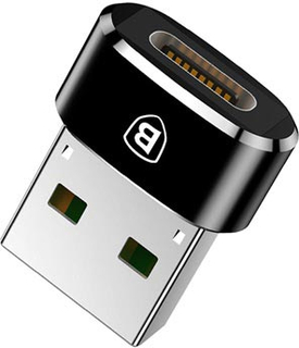 Baseus Mini Series USB 2.0 / USB 3.1 Type-C Adapter - Sort