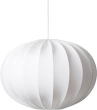 Watt & Veke - Boll Ceiling Light 65cm Oval Cotton Jersey, White