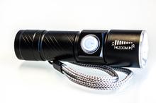 LED Ficklampa 400 Lumen, laddningsbar med USB
