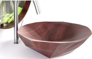 Baku håndvask i Amaranth træ 57 x 70 cm