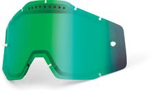 100% Vented Dual Vaihtolinssit, green / mirror 2020 Ajolasitarvikkeet