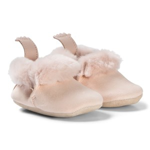 Easy Peasy Minion Shearling Crib Shoes Baby Pink 18/19 (UK 2-3) - Babyshop