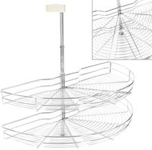 vidaXL Skåpkarusell köksskåp silver 180 grader 85x44x80 cm