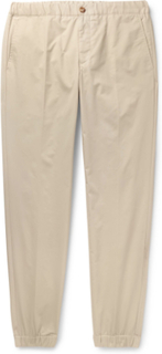 + Nanamica Slim-fit Tapered Cotton-twill Drawstring Trousers - Beige