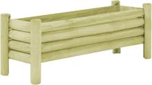 vidaXL Odlingslåda impregnerad furu 120x40x42 cm