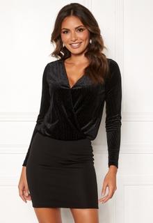 Happy Holly Angela velvet dress Black 48/50