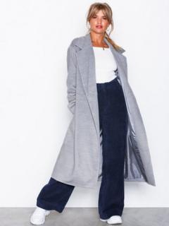 NLY Trend Belted Coat Kappor Mörk Grå