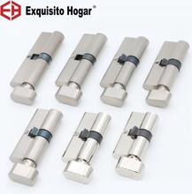 Door cylinder 55 60 65 70 75 80 85 90mm Security Copper Lock Cylinder Interior Bedroom Living Handle Brass Key Locking