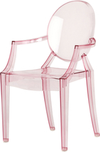 Kartell - Lou Lou Ghost stol Baby, rosa