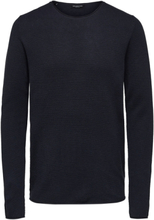 SELECTED Crew Neck - Knitted Pullover Men Blue