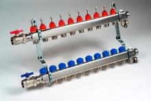 Radiatorendiscounter, Pomploze RVS Verdeler voor verwarmen en koelen   6 groepen, Vloerverwarming verdeler x