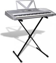 Elektrisk keyboard med notestativ og justerbart stativ