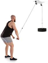 Hangman lat-drag takinstallation 2m kabel tricepsstång vit