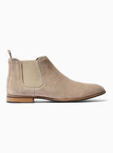 Grey Suede Space Chelsea Boots
