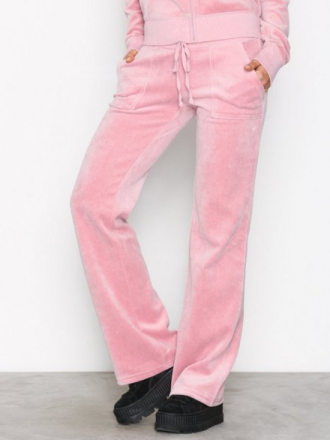 Bukser - Dusty Pink Juicy Couture Velour Del Rey Pant