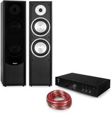 Linie-300 Bluetooth HiFi-set förstärkare golvhögtalare passiv svart
