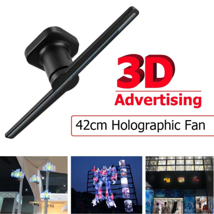 42cm/16.54Inch 0w-15w 3D Naked Eye Hologram Advertising Holographic Projector Player Display Fan Light Advertise Lights US EU