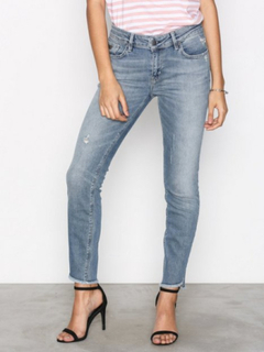 Odd Molly Stretch It Cropped Jeans Skinny Mid Blue