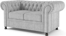 Chesterfield York 2-sits soffa - Valfritt tyg