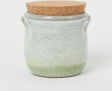H & M - Krukke med lokk i kork - Grønn