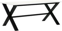 Artic matbord 220 svart / vit