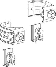 Gustavsberg Triomont XS väggfäste hörnmontering