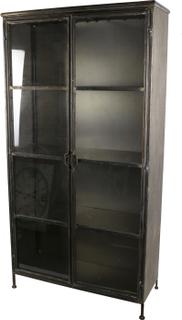 Vitrinskåp Expose 2 dörrar - Metallfärg