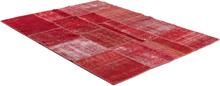 Äkta Patchwork matta Persia - Röd - 170x230 cm